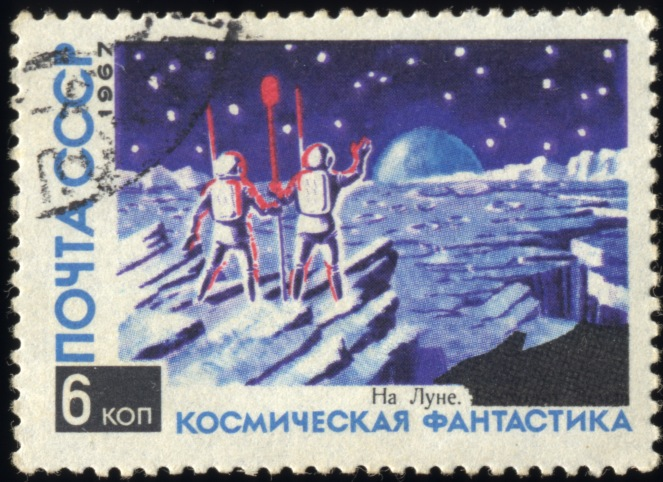 Art-Stamp-Art-Russia-Sputnik-USSR-1967-Science-Fiction-32